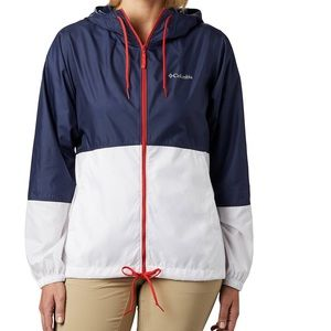 Columbia Red White & Blue Windbreaker